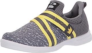 Brunswick 男士 Slingshot 保龄球鞋 - 灰色/黄色 10