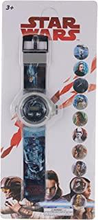 Lucas Star Wars Boys Digital Projection Flashlight Light 10 Images Projection Wristwatch - TC1923A