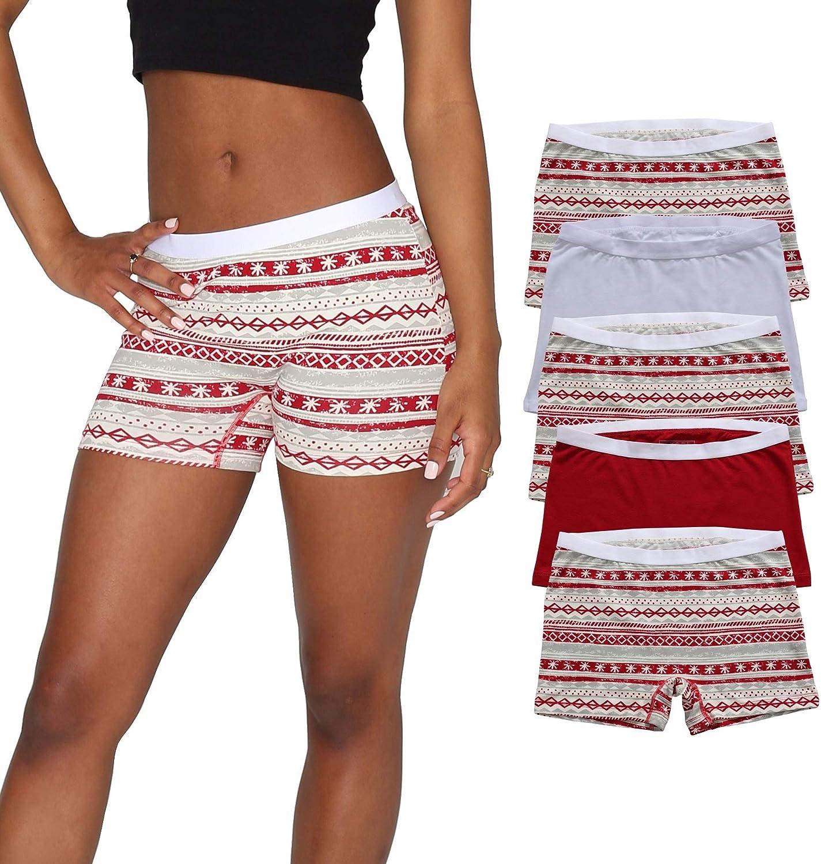 EVARI Women's Boyshort Fashion Panties Comfortable Underwear Pack Sale item Cotton