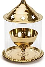 Wacky Brass Golden Akhand Diya (Gold_3.9 Inch X 3.9 Inch X 5.9 Inch)