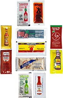 ULTIMATE Hot Sauce Packet Assortment! Receive at LEAST 8 Different Sauces! GREAT FLAVORS! Great for Travel/Single-Use Pack...