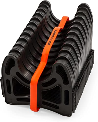 Camco 20 Ft (43051) Sidewinder RV Sewer Hose Support, Made From Sturdy Lightweight Plastic, Won't Creep Closed, Holds...