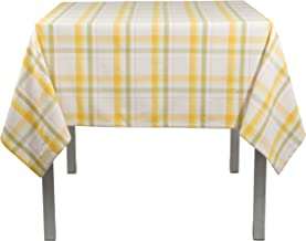 Now Designs Tablecloth, 60 by 108-Inch, Field Day Plaid Sunray