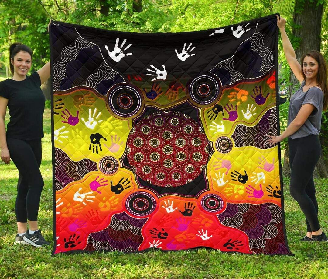 Personalized Indigenous Circle Dot Popular Max 90% OFF product Painting Art Quilt to So Hand
