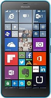 Microsoft Lumia 640 XL 8GB Quad-Core Windows 8.1 Single Sim Smartphone (GSM Unlocked) - Blue