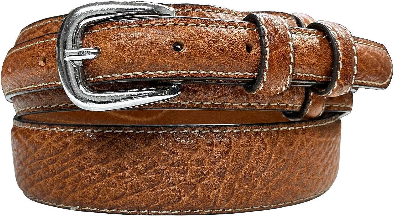 Western Ranger Belt Genuine American Lowest price challenge Leather Bison 1 Max 73% OFF