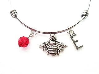 Honey Bee Themed Personalized Bangle Bracelet