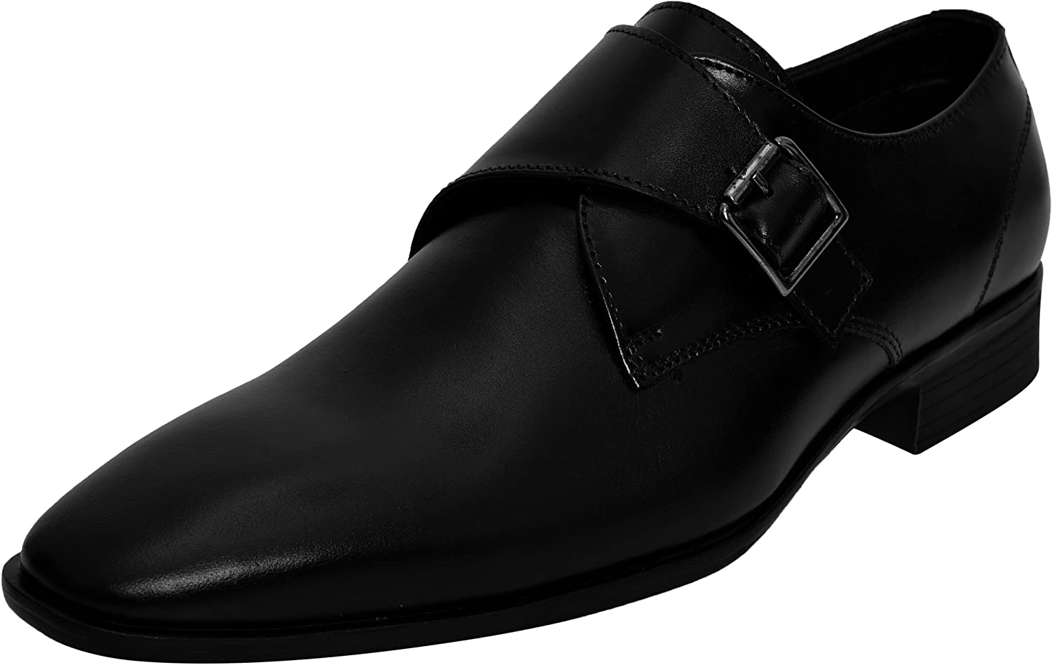 Dolphin Miles Genuine Leather Mens Dress shoes - Double Monk Strap Slip On Loafer shoes - Oxford shoes Men