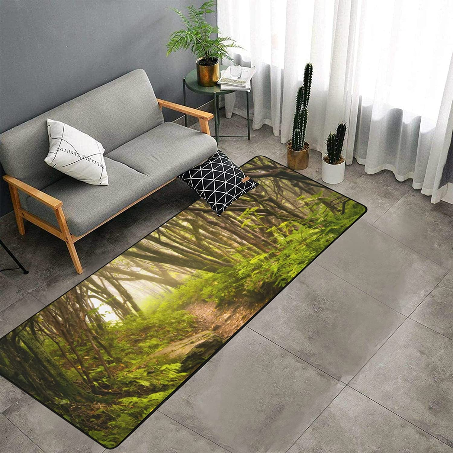 Beautiful Scenery in The Mountain Forest K Choice Runner Ranking TOP3 Kitchen of Rug
