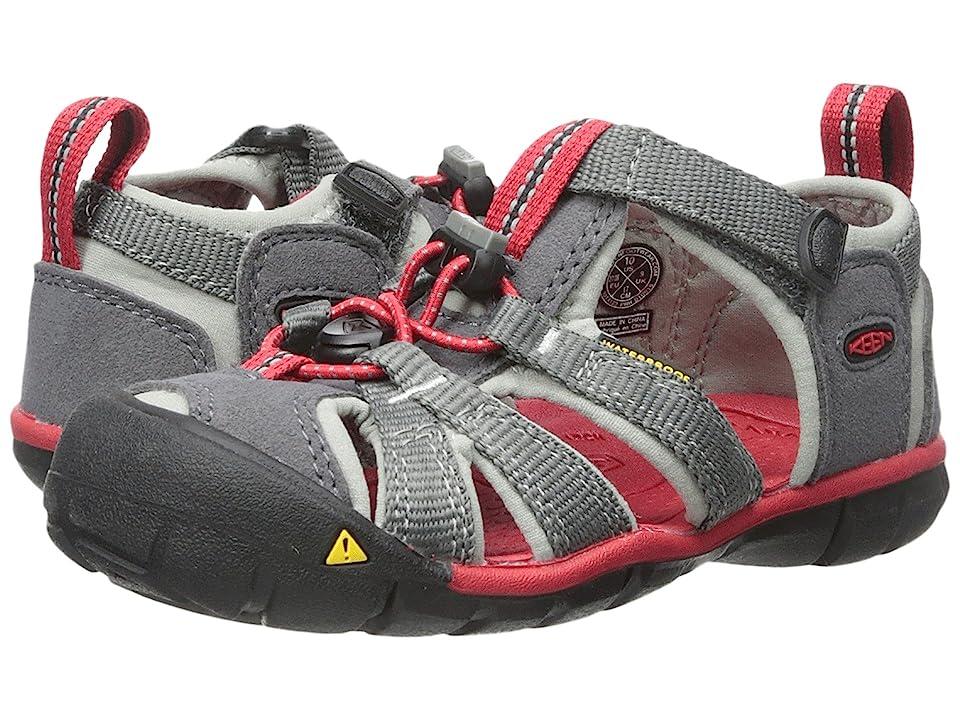 Keen Kids Seacamp II CNX (Toddler/Little Kid) (Magnet/Racing Red) Boys Shoes