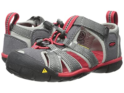 Keen Kids Seacamp II CNX (Toddler/Little Kid) (Magnet/Racing Red) Boys Shoes