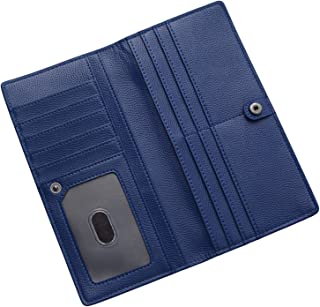 RFID Blocking Ultra Slim Real Leather Credit Card Holder Clutch Wallets for Women