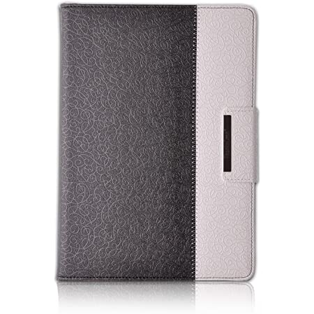 Thankscase Case for iPad Air 2, Rotating Leather Case Cover with Wallet and Pocket with Hand Strap with Smart Cover Function for Ipad Air 2. (Diamond Black)