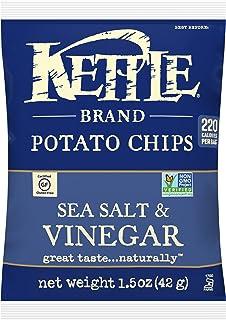 Kettle Brand Potato Chips, Sea Salt and Vinegar, Single-Serve 1.5 Ounce (Pack of 24)