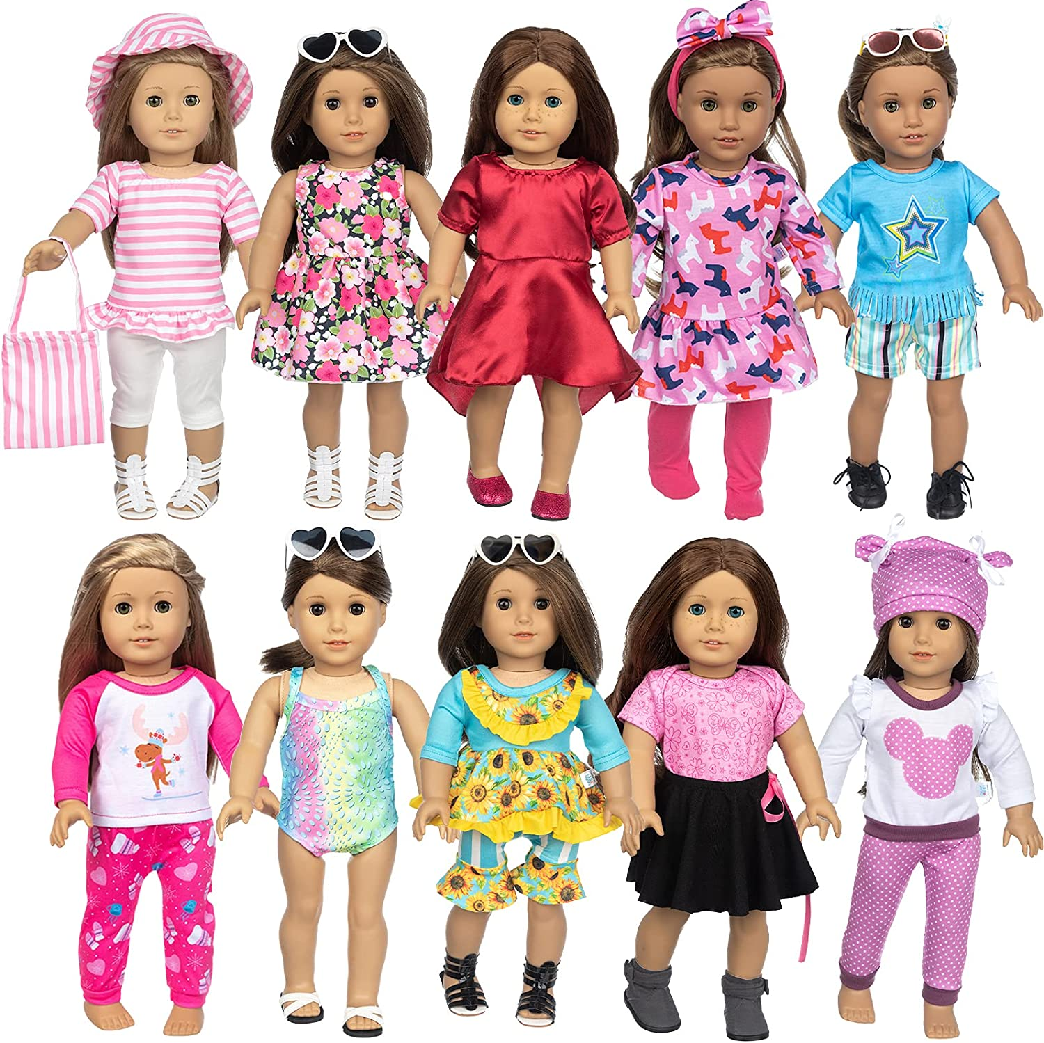 BDDOLL 23 Pcs American 18 Inch and Max 64% Financial sales sale OFF Girl Clothes Doll Accessories