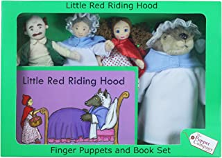 The Puppet Company Traditional Story Sets Little Red Riding Hood Book and Finger Puppets Set