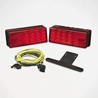Wesbar 407540 Waterproof LED Low Profile Tail Light Kit, Over 80