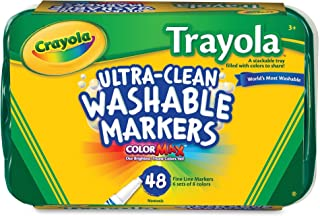 Crayola; Ultra-Clean; Fine Line Markers; Art Tools; 48 ct.; 6 Each of 8 ; Bright, Bold Washable Colors