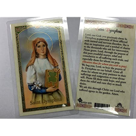 Divine Messenger Help Unisex Gift. Patron St Let the Healing Begin Patronage for Anxiety Clip or Necklace Saint Dymphna Hope and Happiness of Depression Keychain Runaways and Incest Victims