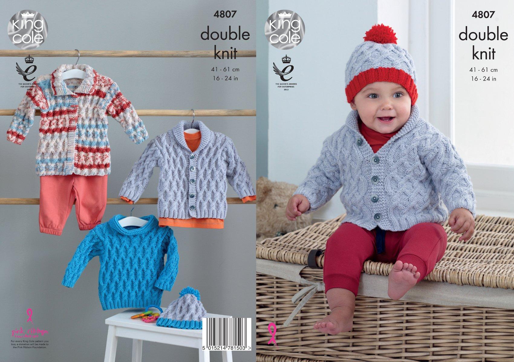 176 Knitting Pattern Baby Girls DK Cardigans Round /& V Neck  46-61 cm
