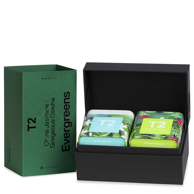 T2 Ranking TOP20 Tea Evergreens - Green Genuine Free Shipping Gift Pack 2 Mini Ti Loose Leaf in