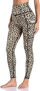 Enmain Pantaloni da yoga a vita alta da donna con tasca per il controllo della pancia palestra Leggings sportivi da corsa