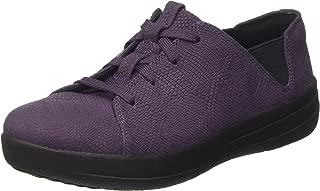 Women's F-Sporty Laceup Sneaker Trainers, Purple (Deep Plum Snake-Embossed), 5 UK 38 EU