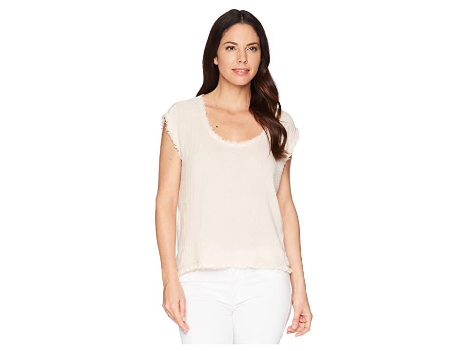 Three Dots Cade Gauze Top (Cameo) Women