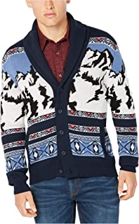 Mens Mountain Cardigan Sweater