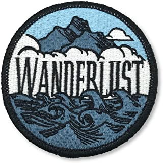 O'Houlihans - Wanderlust Patch - Hiking Camping Travel Adventure Patch - Iron on Patch