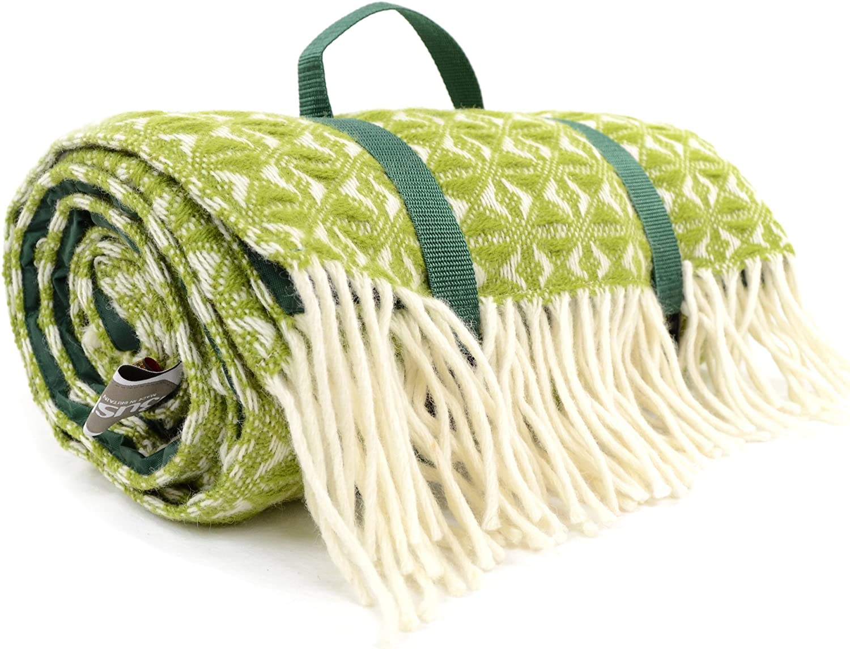 Extra groß, wasserfest, wasserfest, wasserfest, 100% Wolle, Picknick-Decke Reisedecke Camping Strand Mat. für Bushga Made in EU B00ZCDA3GG  Beliebte Empfehlung 349af7