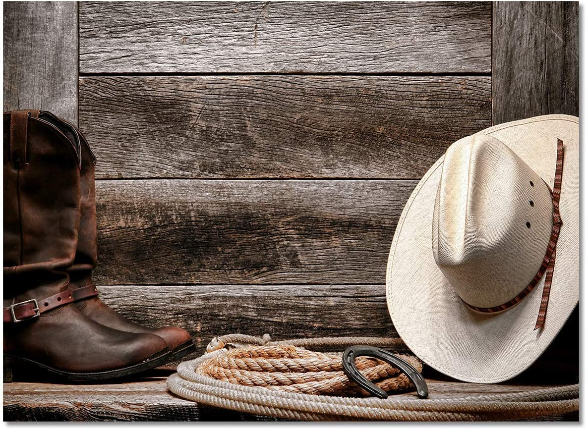 Meet 1998 America Western Cowboy Durable Factory outlet Rugs Bo Area Hat Indoor Charlotte Mall