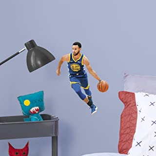 Fathead NBA Golden State Warriors Steph Curry Steph Curry- Officially Licensed Removable Wall Decal, Multicolor, Large - 1900-00177-005