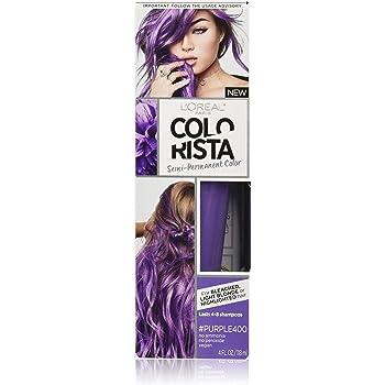 L'Oreal Paris Colorista Semi-Permanent Hair Color for Light Bleached or Blondes, Purple