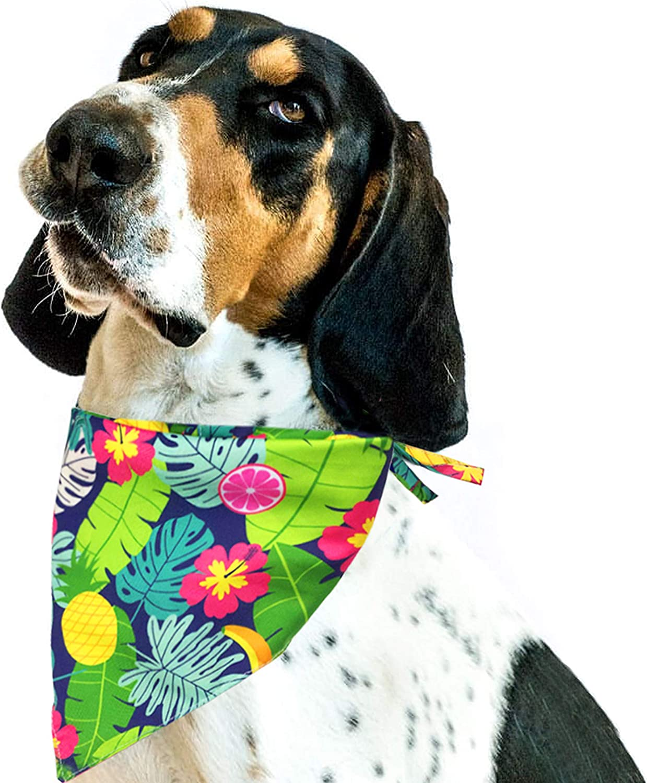 Pohshido Hawaii Summer Max 56% OFF Pineapple Challenge the lowest price of Japan ☆ Floral Revers Aloha Bandana Dog