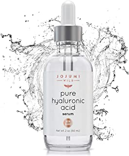 Jojumi Wild 2 oz. 100% Pure Hyaluronic Acid Serum for Skin, Face and Under Eye - Best Hydrating Facial Serum for Anti-Aging and Skin Care to Reduce Wrinkles and Fine Lines
