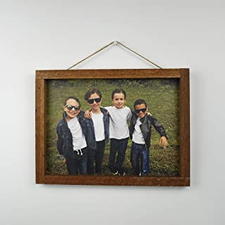Artblox Personalized Photo Print on Canvas Framed - Customized with Your Photo Wall Art - HD Digital Prints - (10