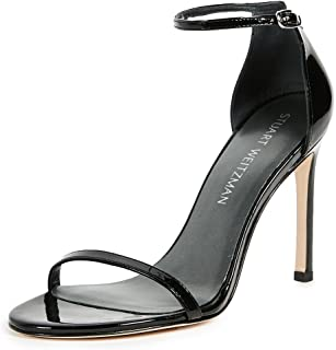 Stuart Weitzman Women's Nudistsong Sandal, Black nappa, 10 Medium US