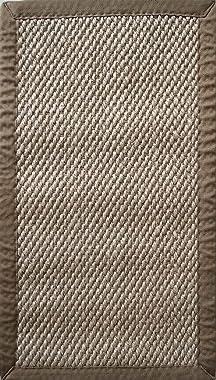 Color Carpet Tapete de Ingreso o Entrada 100% sisal con Medidas 90x50 cms Base antiderrapante Modelo A308