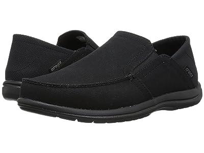 Crocs Santa Cruz Convertible Slip-On (Black/Black) Men