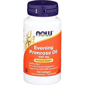 NOW Supplements, Evening Primrose Oil 500 mg with Naturally Occurring GLA (Gamma-Linolenic Acid), 100 Softgels
