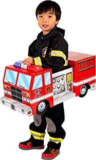 Suitables Fire Truck Costume for Kids 2-7 with Sound