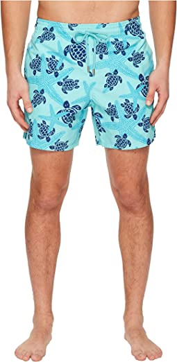 Moorea Stars and Turtles Swim Trunk
