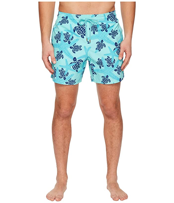 Vilebrequin Moorea Stars and Turtles Swim Trunk (Lagoon) Men