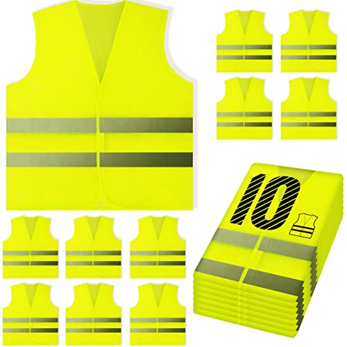 Fluorescent Vest High Visibility Reflective Child Adults Reflective Vest Soccer Cycling Safety Vest Road Traffic Safety Clothing Tool Parts