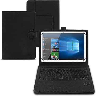 NAUC Tastatur H lle QWERTZ Bluetooth Schutzh lle Cover Tablet Case Keyboard kabellos Ultra d nn ergonomisches Design deutsche QWERTZ Layout  Tablet Modell f r Samsung Galaxy Tab 10 1
