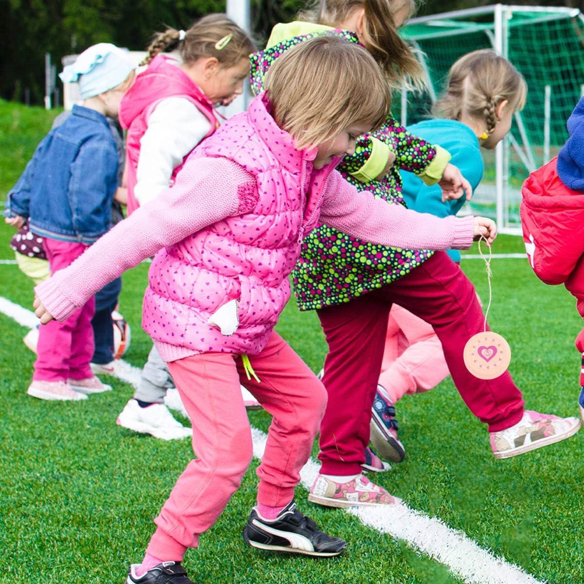 STOBOK 3 giocattoli in legno Yoyo rosa cuore Yoyo palline gioco divertente bambini Party Favors