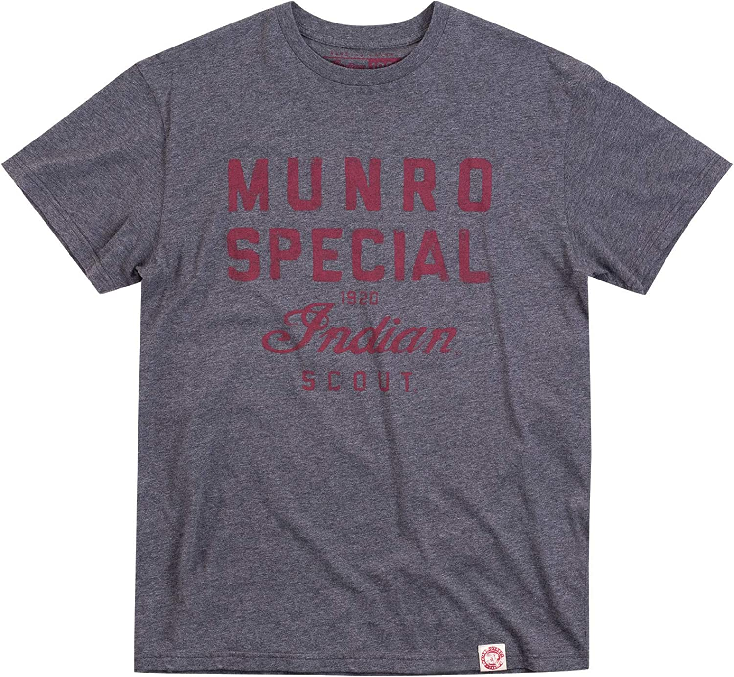 Max Max 85% OFF 66% OFF Indian Motorcycle Men's 1901 Munro T-Shirt Special Gray