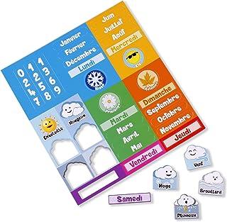 Części magnetyczne do kalendarza aeioubaby w języku francuskim   magnetyczny zegar kalendarz dla dzieci, gra edukacyjna   ...