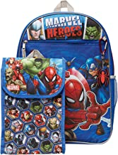 Marvel Avengers Backpack Combo Set - Avengers Boys 4 Piece Backpack Set - Backpack, Lunchbox, Key Chain and Carabiner (Marvel Universe)